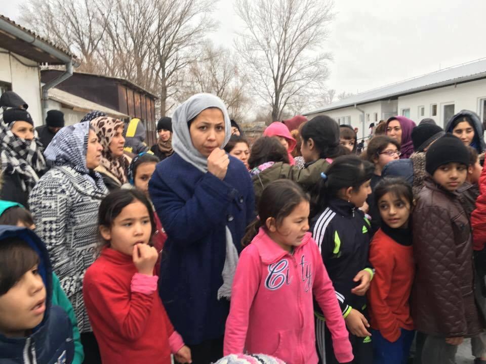 Refugee camp in Serbia