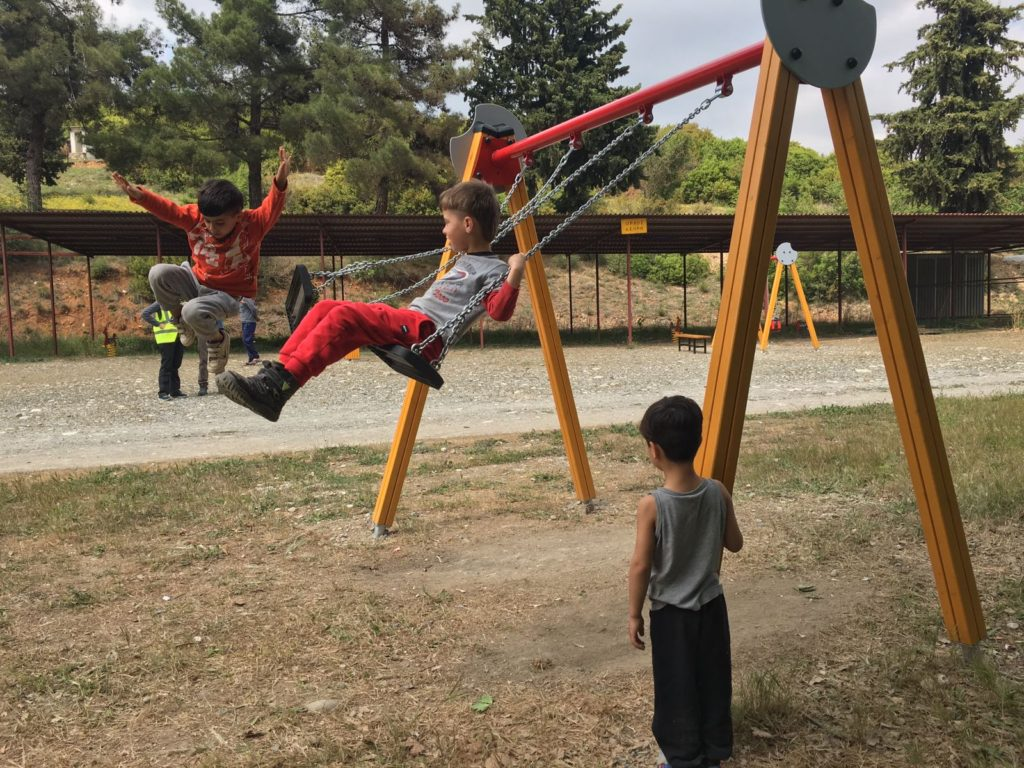 playground refugee camp